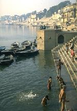 Men Bathing in Ganges River